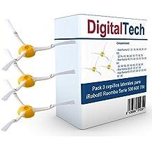 DigitalTech® - Pack de tres cepillos laterales para iRobot Roomba Serie 500 600 700