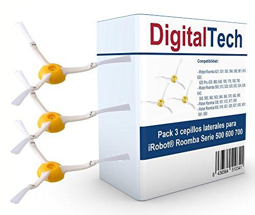 DigitalTech - Pack de Tres cepillos Laterales para...