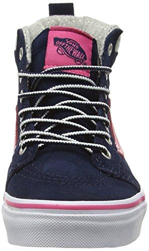 VansSk8-hi Mte - Scarpe da Ginnastica Basse Unisex – Bambini Blu (MTE navy/pink)