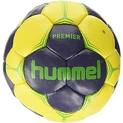 Hummel Premier–Balón de balonmano, todo el año, color Ombre Blue/Yellow/Green, tamaño 3