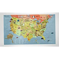 BUCKETLIST MAP USA - USA KARTE von Awesome Maps