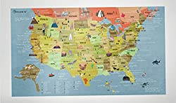 Awesome Maps BUCKETLIST MAP USA - USA Karte