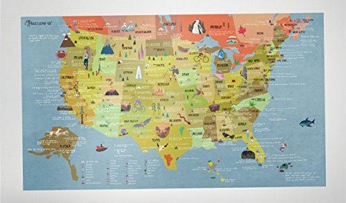 Awesome Maps BUCKETLIST MAP USA - USA Karte (Usa Reise-karte)