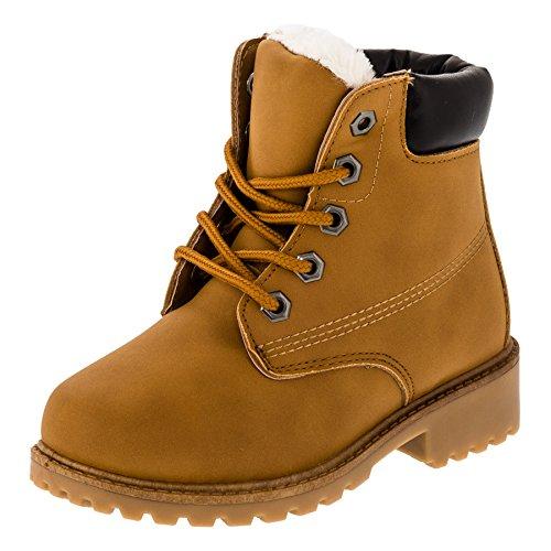 Gefütterte warme Jungen oder Mädchen Classic Boots Stiefel in vielen Farben #270hbn Hellbraun Gr.28 (Boot Kinder Winter)