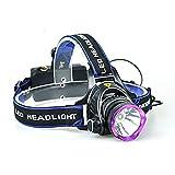 Skytower Super Hell LED Kopf Taschenlampe Lampe Scheinwerfer Scheinwerfer XM-L T62000Lumen für Laufen Wandern Camping Angeln mit verstellbarem Kopfbügel Zoom Wasserdicht
