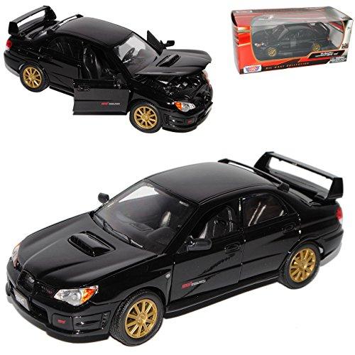 subaru-impreza-wrx-sti-gd-f-g-limousine-schwarz-2005-2007-1-24-motormax-modell-auto-mit-individiuell