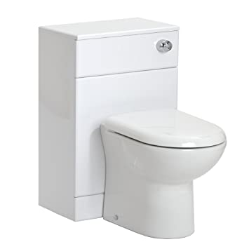 Bathroom Furniture White Gloss Back to Wall Toilet WC Vanity Cabinet Unit 500mm   2 Sizes Available   500 W  x 300 D   Amazon co uk  Kitchen  amp  Home. Bathroom Furniture White Gloss Back to Wall Toilet WC Vanity