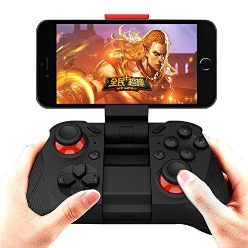 - Rand-spiel (ANMKOT drahtloser Bluetooth Spiel-Steuerpult Gamepad Joypad Steuerknüppel für Android Phone Samsung Gear VR, S6, S6 Rand, S7, S7 Rand, Anmerkung 5, Nexus, HTC, LG / Tablet PC Spiele mit Clip)