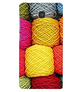 ColourCraft Colourful Wool Design Back Case Cover for XIAOMI REDMI 2S