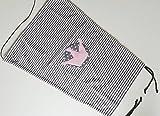 Sonnensegel UV-Schutz grau Streifen Krone rosa Mädchen Baby Kinderwagen