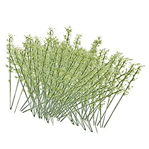 Approx. 100Pcs Plastic Model Bamboo Trees Scale 1:75---Green