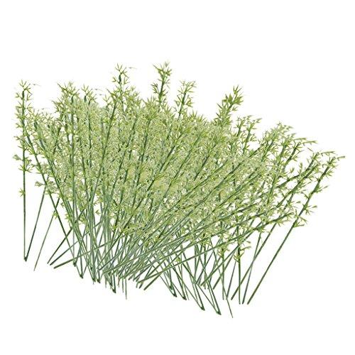 Lot 100 Modèle Bambou En Plastique Vert Echelle Train HO életronique Paysage Jouef 1:75 0082045079975