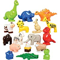 Constructive Playthings OX-17 Animals for Preschool Bricks