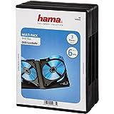 Hama DVD-Hüllen 3er-Pack (geeignet für 6 DVDs, auch passend für CDs und Blu-rays, mit Folie zum Einstecken des Covers) schwarz