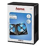 Hama DVD-Hüllen für 6 DVDs (Auch passend für CDs und Blu-rays, Mit Folie zum Einstecken des Covers) 3er-Pack, schwarz