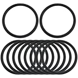 Tradico® 10 Pcs 32.5mm X 2.65mm Black Silicone O Rings Oil Seals Gaskets