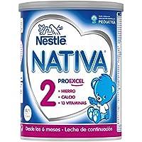 NESTLÉ NATIVA 2 – A partir de los 6 meses – Leche de continuación en polvo – Fórmula para bebés - 800g