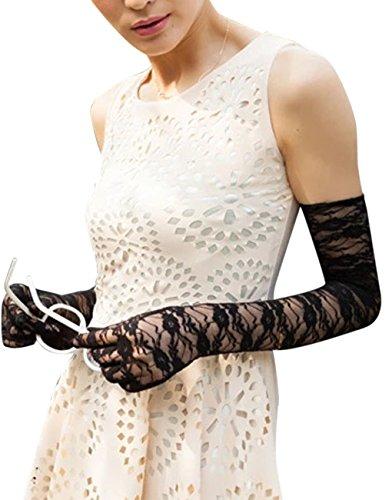 tze Brauthandschuhe Hochzeithandschuhe Sonnenschutz Langen Finger UV Handschuhe Netzhandschuhe in Verschiedene Farbe (Unterschied Zwischen Verkleidung Und Kostüm)