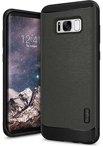 Ringke Funda Samsung Galaxy S8 2017 [Flex S] Funda Elegante Duradera Recubierta Texturizada de Cuero TPU Flexible con Protección contra Impactos Avanzada - Gris Gray