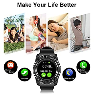 Smart watches with SIM card slot touch screen camera (Pink 1)
