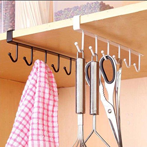 sunnymi Kücheneisenhaken/Umweltfreundlich/Lagerhalter Racks Badezimmer Regale/Küche Schlafzimmer Badezimmer (Weiß) -