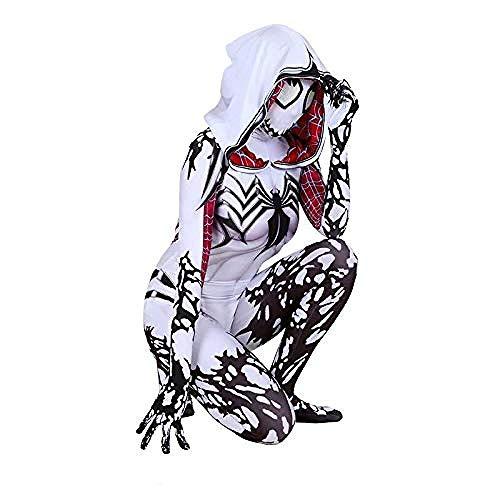 iderman Kostüm Cosplay Weibliche Strumpfhosen Halloween Kostüm Ball Film Kleidung,White-M ()