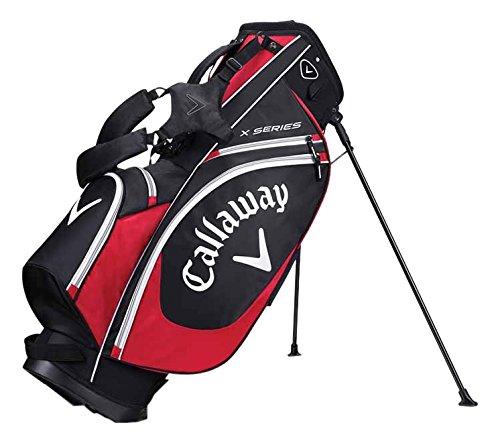 Calaxay X Series Sac trépied de golf unisexe pour adultes Noir/rouge/blanc Taille unique