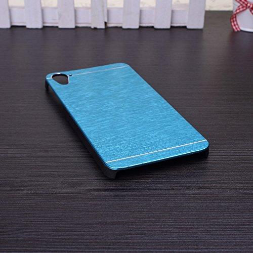 HTC 826 Case,linie Wirkung Auf Fall Einfarbig Aluminium Metal Und Plastik - Hardcover Für Htc 826 ( Color : Rose , Size : HTC 826 ) Blue
