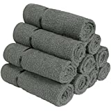 Story@Home 450 GSM Set of 10 pcs 100% Cotton Face Towel (Charcoal Gray)