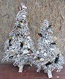 Außendeko 2er Set, beleuchtet, Tannenbaum, Weihnachtsdeko für draußen, Türdekoration