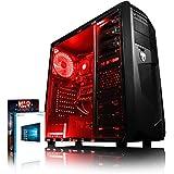 VIBOX Standard 3A - Ordenador para gaming (AMD A8-7600, 8 GB de RAM, 1 TB de disco duro, AMD Radeon R7, Windows 10) color neón rojo
