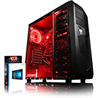 Vibox Standard 3A Gaming PC - with Warthunder Game Bundle, Windows 10 (3.1GHz AMD A8 Quad Core Processor, Radeon R7 Graphics Chip, 1TB Hard Drive, 8GB RAM, AvP Mamba Red LED Case)