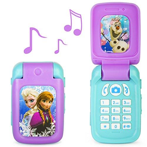 Preisvergleich Produktbild Disney Spielzeug-Handy zum Entdecken von Musik und Geräuschen mit Elsa, Anna und Olaf - Frozen Klapp-Handy
