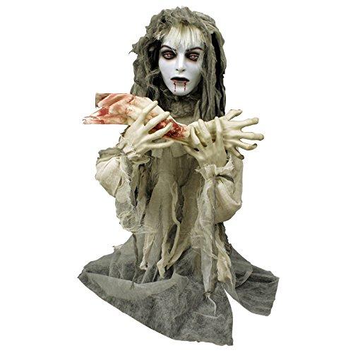 Animierte Vampir-Braut Halloween-Deko weiss-grau 80x70cm Einheitsgröße (Halloween Animierte Deko)