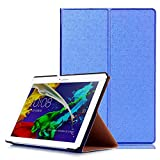 Borse per Lenovo Tab 2 A10-30 F/L 10.1 Pollice Smart Slim Case Book Cover Stand Flip TB2-X30 F/L (Blu) NUOVO