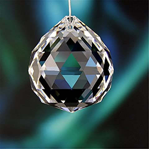 Saint Mossi 30mm Clear Crystal Ball Prisma Facettiert Hanging Anhänger Suncatcher für Feng Shui / Divination oder Hochzeit / Home / Office Dekoration (4-Pack)