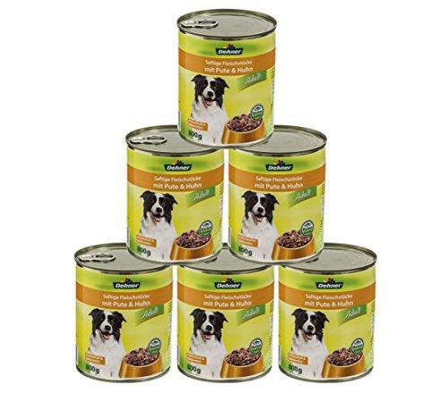 Dehner Hundefutter Adult, Pute und Huhn, 6 x 800 g (4.8 kg)