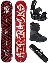 AIRTRACKS SNOWBOARD SET - WIDE TABLA DIRTY BRUSH WIDE 155 - FIJACIONES STAR - BOTAS STAR BLACK 44 - SB BAG
