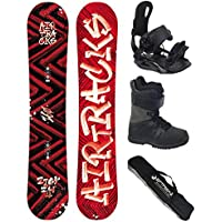AIRTRACKS SNOWBOARD SET - WIDE TABLA DIRTY BRUSH WIDE 160 - FIJACIONES STAR - BOTAS STAR BLACK 44 - SB BAG