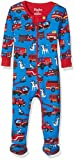 Hatley 100% Organic Cotton Footed Sleepsuit, Pelele para Dormir para Bebés, Azul (Fire Trucks 400), 3-6 Meses