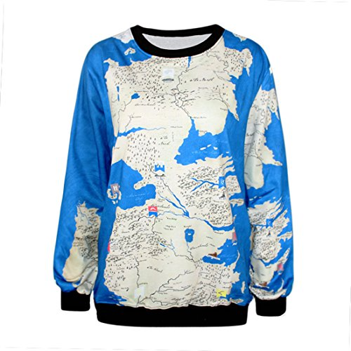 YICHUN Femme Tops T-Shirts Tee-Shirt Léger Sweat-shirts Sweaters Pulls Blouse Pull-Overs Jumpers Carte 18#