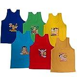 #4: Bheem Cotton Kid's Boys Coloured Vest_(Pack Of 6)_Assorted Colors