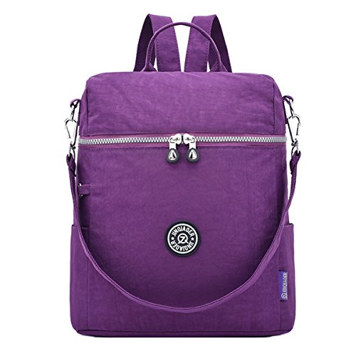 Travistar Women Backpack Lightweight Nylon Shoulder Bag – Water-resistant Casual Travel Backpack Handbag Multifunctional bag for office or daily life