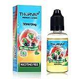 THORVAP® Menthe Verte à la Myrtille Liquide, 70% VG, ë Liquide Cigarette électronique, Liquid sans Nicotine ni Tabac. (30 ml) - Blueberry Spearmint