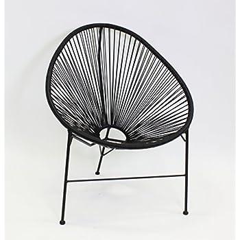 Voss Design Genialer Stuhl Acapulco Papasansessel Gartensessel T/ürkis Blau Sessel Seile