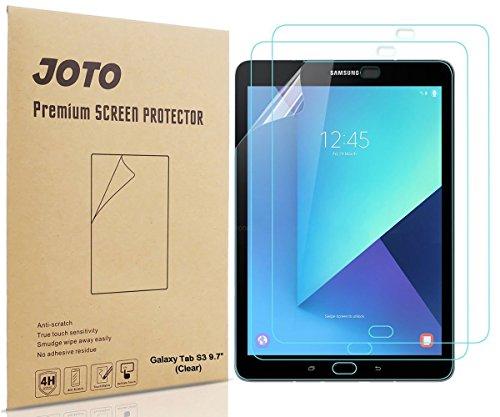 Galaxy Tab S3 9.7 Displayschutzfolie - JOTO Ultra HD Crystal Sod off (Unsichtbar) Displayschutzfolie Schutzfolie für Samsung Galaxy Tab S3 9.7 Overstrain pad,3 Zählen