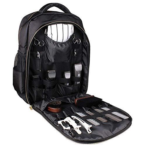 Friseurwerkzeug Rucksack, Friseur Handtasche tragbaren Multifunktions-Rucksack wasserdicht Schere Kamm Spange Haar Kasten Reisegepäck