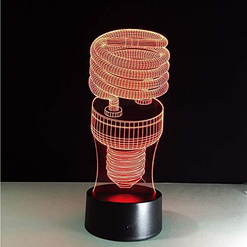 Lifme Spirale Energiesparlampe 7 Farben Lampe 3D Visuelle Led-Nachtlichter Für Kinder Touch Usb Tisch Nachtlicht Für Led Shop Showroom