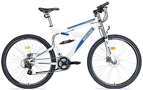 Bergsteiger Alu-Mountainbike 28 Zoll /MTX.280/, Scheibenbremse, 21 Gang Shimano Altus, vollgefedert