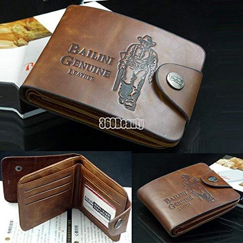12 Pocket Credit Geldbörse (mymotto Herren Geldbeutel Männer Classic Leather Pockets Credit/ID Cards Holder Purse Wallet)